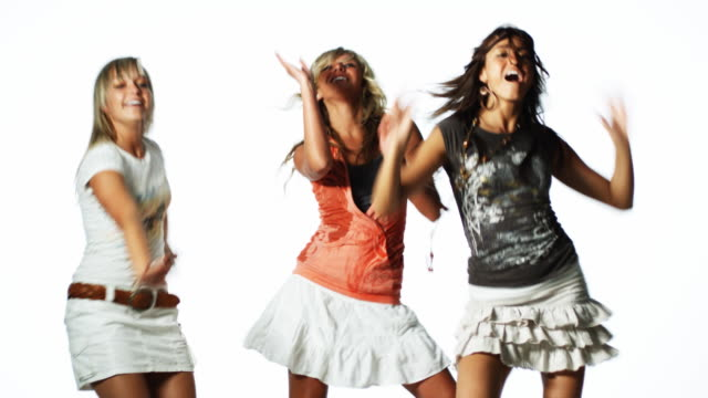 three women dancing