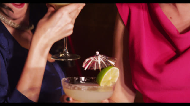 three women dancing with cocktail drinks - glamour stock videos & royalty-free footage