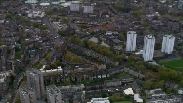 three women kept as slaves for 30 years in south london home lambeth of houses and tower blocks on residential streets - lambeth stock-videos und b-roll-filmmaterial