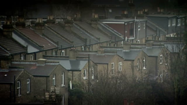 three women kept as slaves for 30 years in south london home lambeth ext high angle gvs of residential houses - lambeth stock videos & royalty-free footage