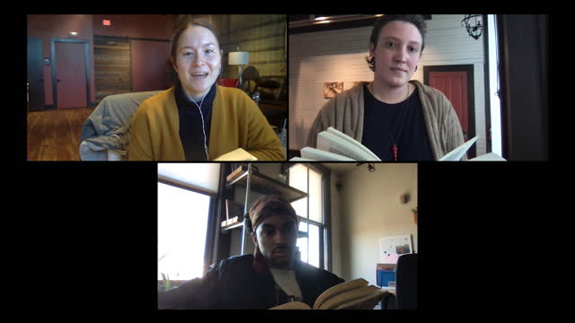 three young readers discuss a book during a video call - literature stock videos & royalty-free footage