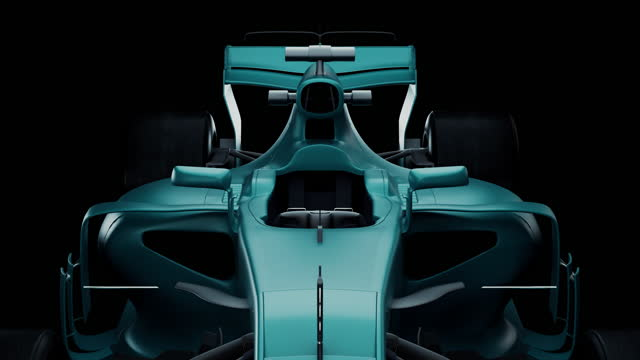 a three-dimensional model of a sports car from a black studio. - formula one racing stock videos & royalty-free footage