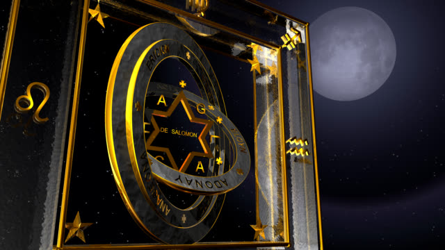 three-dimensional video of grand pentacle - star of david stock videos and b-roll footage