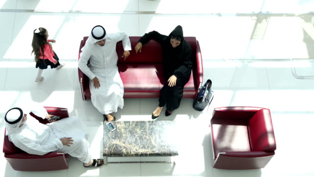 FAST MOTION: Three-generation Emirati family at the lounge