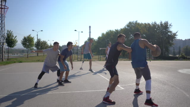 three-on-three street tournament - disability inclusion stock videos & royalty-free footage