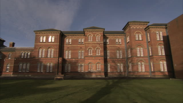 Three-storied wings of Broadmoor Psychiatric Hospital. Available in HD.