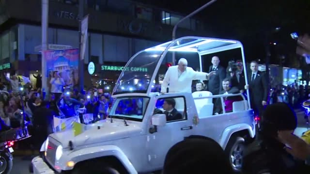 a thrilled mexico greeted pope francis on friday with mariachi music and thousands of catholic faithful lining the streets after the pontiff held... - religious music stock videos and b-roll footage