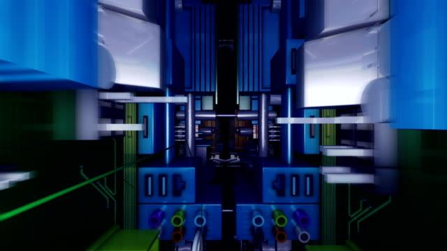 through center of circuit - 回路基板点の映像素材/bロール