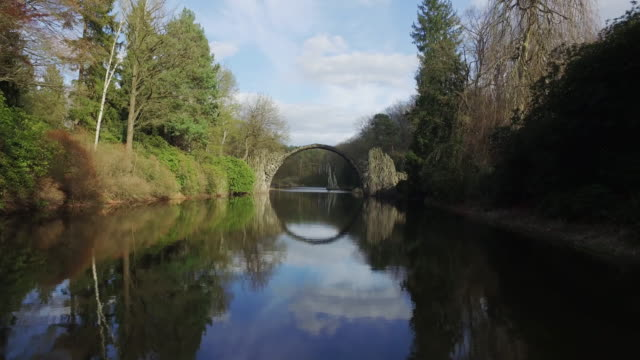 through devil´s bridge - brandenburg state stock videos & royalty-free footage
