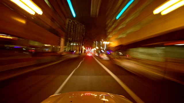 Through Downtown with PSU Drive with Hood Portland Oregon Night Time Lapse