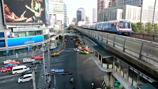 BTS through the Asok intersection in Bangkok