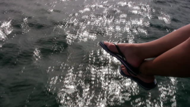 through the ocean - flip flop stock videos and b-roll footage