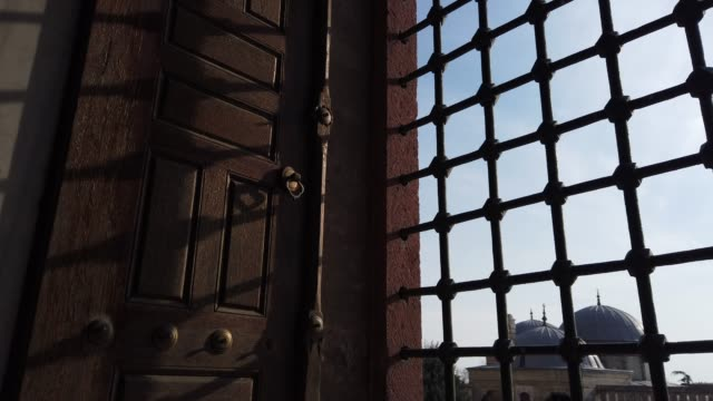 through the window of selimiye mosque, edirne, turkey - 16th century stock videos & royalty-free footage