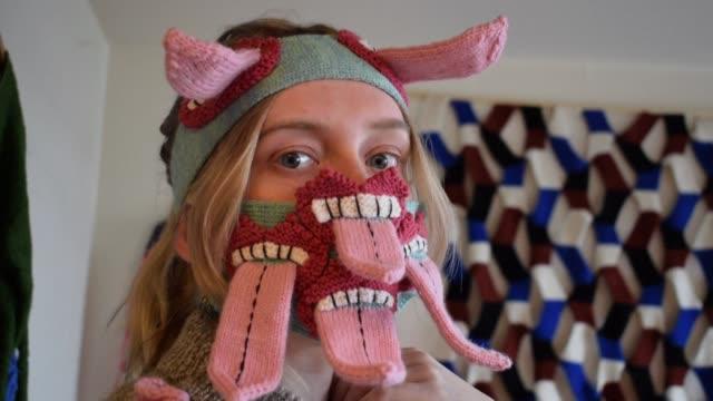 ISL: Icelandic designer makes 'scary' masks to encourage distancing
