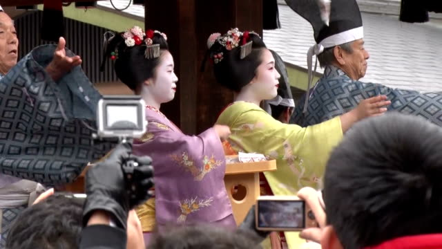 throw beans and bring in luck get rid of evil at shrines and temples traditional bean throwing ceremonies are taking place as early bird events to... - bean stock videos and b-roll footage