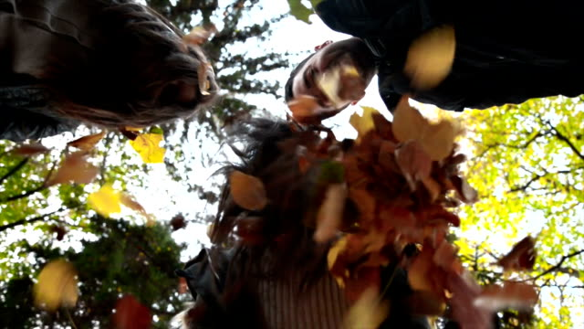 throwing leaves - throwing stock videos & royalty-free footage