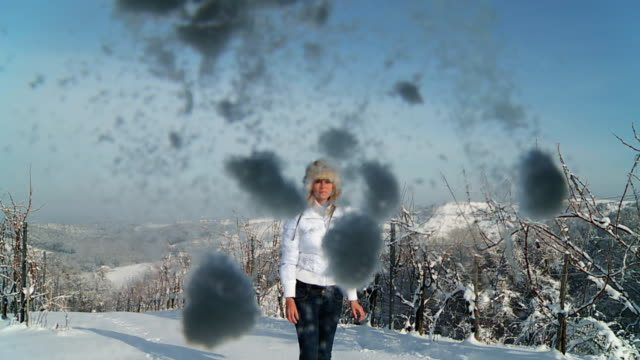 HD SLOW-MOTION: Throwing The Snowball In Camera