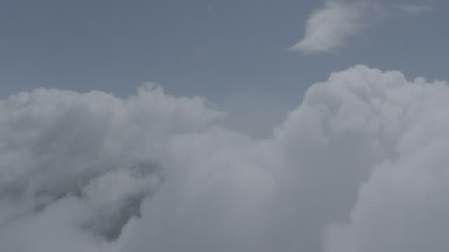 a-a mov pov thru clouds - propeller aeroplane stock videos & royalty-free footage