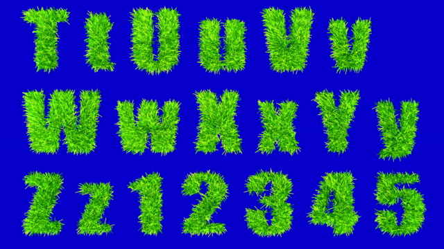 t thru z and numbers made with swaying grass. - number 1 stock videos & royalty-free footage
