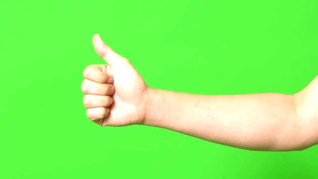 vídeos y material grabado en eventos de stock de pulgar para arriba - dedo humano
