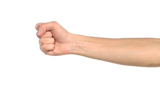 vídeos de stock, filmes e b-roll de loop hd: polegar para baixo - braço