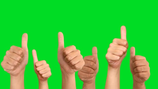 thumbs up for likes - green background stock videos & royalty-free footage