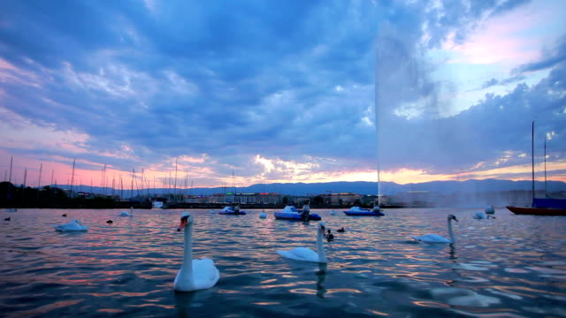 thun lake under the cloud - lake thun stock videos and b-roll footage