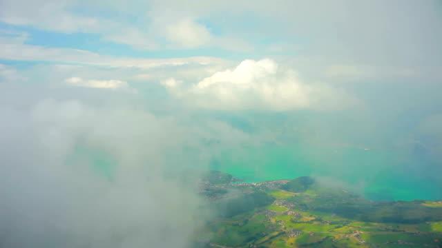 thun lake under the fog - lake thun stock videos and b-roll footage