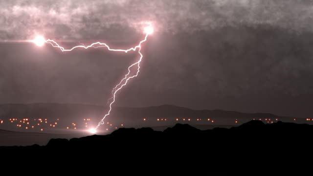 thunder and lightning storm - lightning stock videos & royalty-free footage
