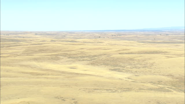 thunder basin national grassland  - aerial view - wyoming, weston county, united states - national grassland stock videos & royalty-free footage