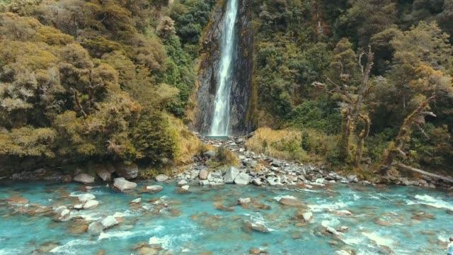 thunder creek waterfall - maui stock videos & royalty-free footage