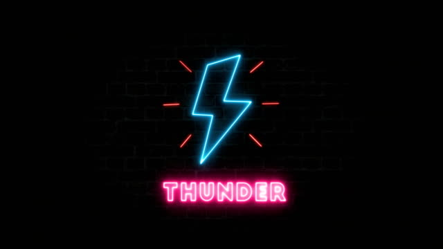 thunder, neon sign - loopable moving image stock videos & royalty-free footage