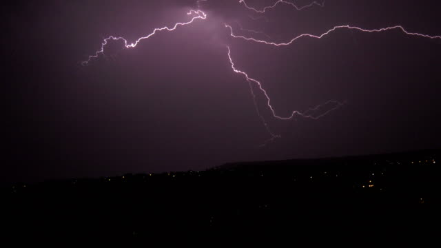 thunder storm at night - lightning stock videos & royalty-free footage