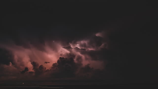 thunder storm at night - atmosphere filter stock videos & royalty-free footage