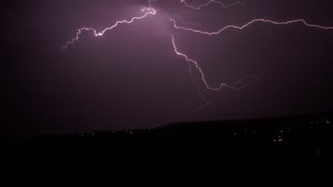 thunder storm at night - lightning stock videos & royalty-free footage