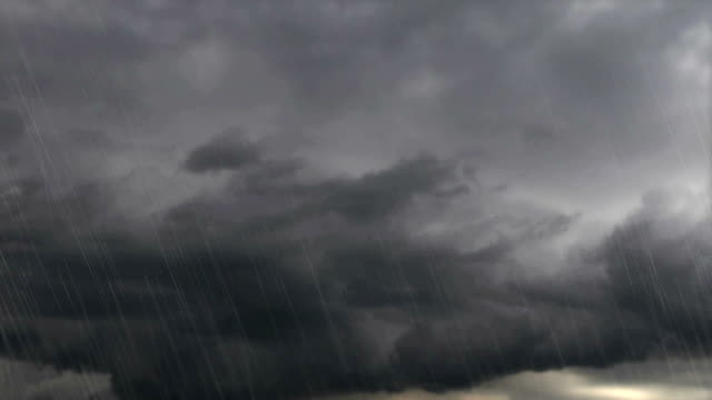 thunder weather changes, lightning strikes, rains showers - pioggia video stock e b–roll