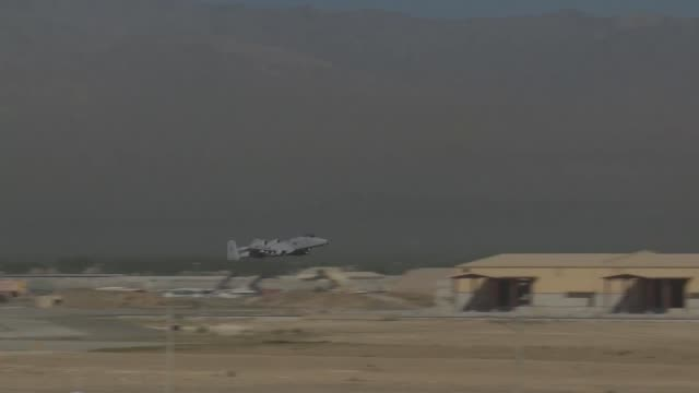 Thunderbolt II aircraft take off from Bagram Airfield Afghanistan