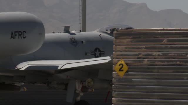 thunderbolt ii aircraft take off from bagram airfield afghanistan - bagram video stock e b–roll