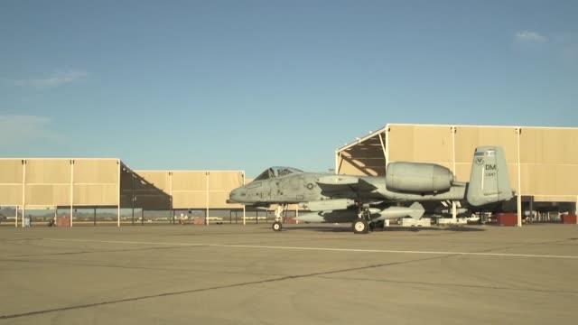 Thunderbolt take offs during exercise at Davis Monthan Air Force Base Tucson Arizona
