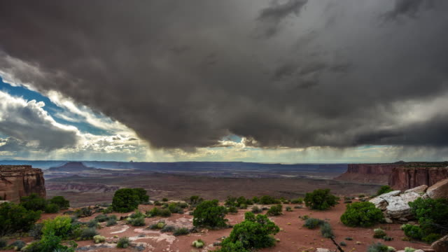 thunderstorm at canyonlands national park - canyonlands national park stock videos & royalty-free footage