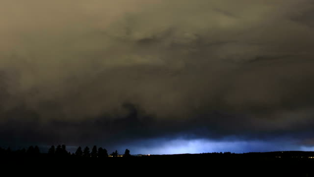 thunderstorm at night, timelapse - 1 minute or greater stock videos & royalty-free footage