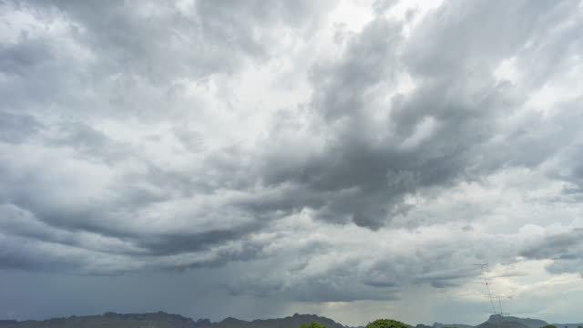 thunderstorm clouds on sky, time lapse video - condensation stock videos & royalty-free footage