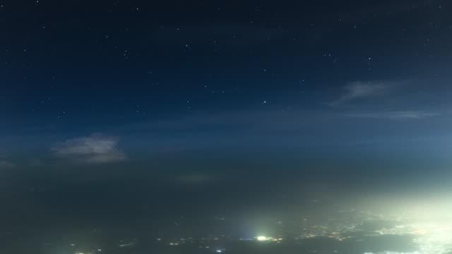 thunderstorm in the night (passenger pov shot) - pilot stock videos & royalty-free footage