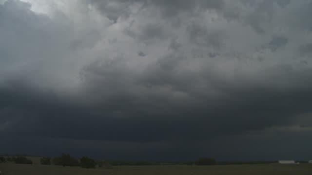 Thunderstorm over a prairie landscape