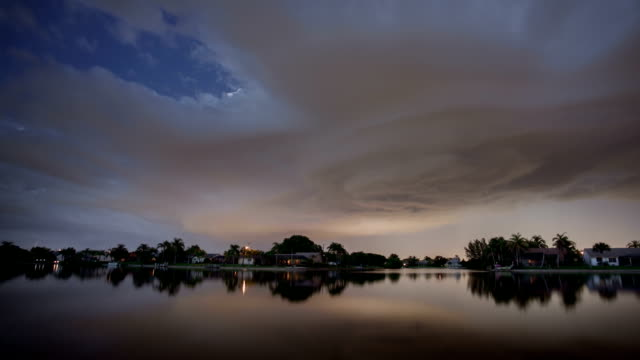 thunderstorm time lapse - cape coral stock videos & royalty-free footage