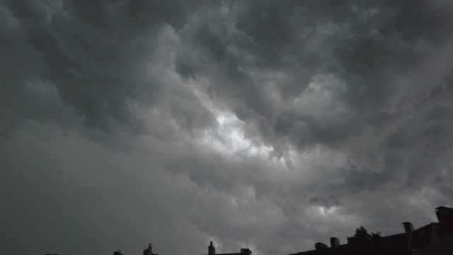 thunderstorm with lightning and clouds over kiel - gewitter mit blitzen und wolken über kiel - tina terras michael walter stock videos & royalty-free footage