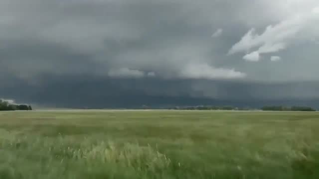 stockvideo's en b-roll-footage met thunderstorms brought strong winds and hail across the midwest on june 8, the https://twitter.com/nwsomaha/status/1270066166363353088 national... - https