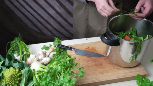 thyme and bay leaf - broth stock videos & royalty-free footage