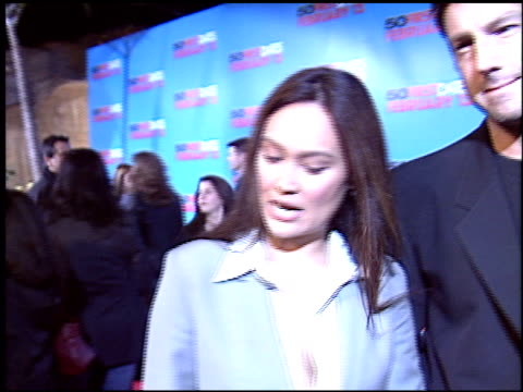 stockvideo's en b-roll-footage met tia carrere at the '50 first dates' premiere on february 3, 2004. - tia carrere