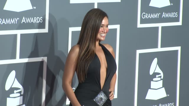 stockvideo's en b-roll-footage met tia carrere at the 51st annual grammy awards part 5 at los angeles ca. - tia carrere